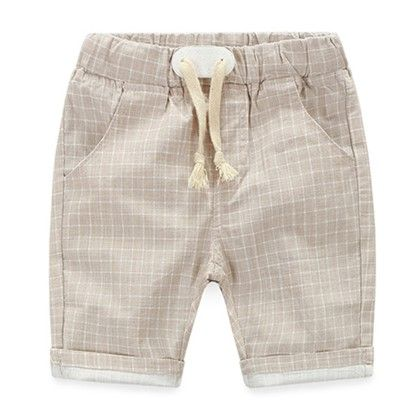 Trendy And Cute Summer Shorts For Boys  - Beige - Mauve Collection
