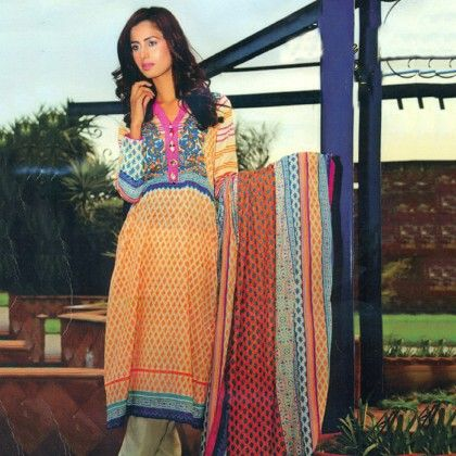 Imaan Yellow & Blue Semistitched Suit - Mauve Collection