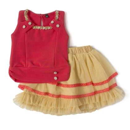 Pink Tutu Skirt And Top With Belt Flower Patch Work Birthday Party Dress - Aww Hunnie!!