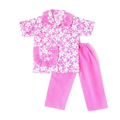 Pretty Floral Print Night Suit - Pink - BownBee