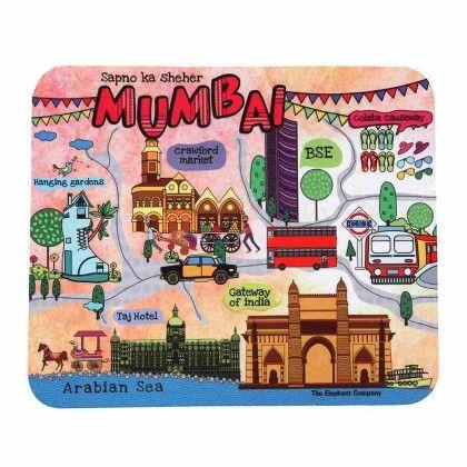 Mouse Pad Mumbai Maps - The Elephant Company