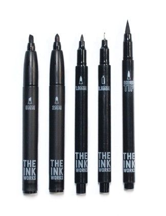 The Ink Works Markers- Set Of 5 - International Arrivals