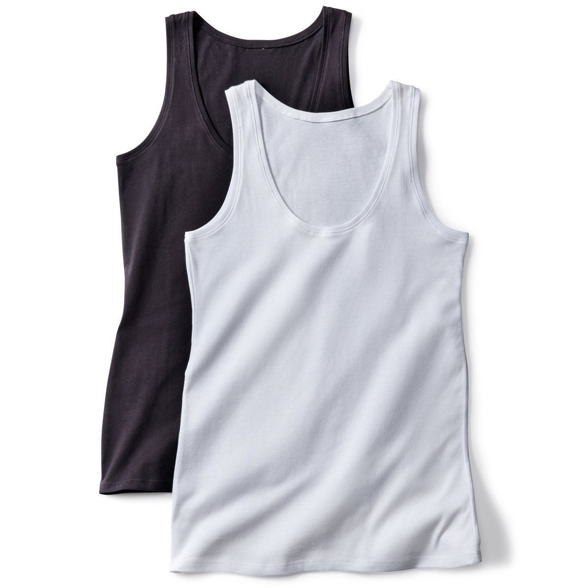 White And Pale Yellow Pack Of 2 Tank Tops - La Redoute