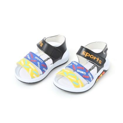 Sandals With Velcro Closure - Black - Kittens