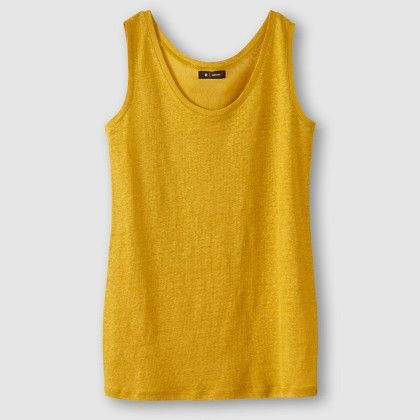 Jaune Curry Melange Tank Top - La Redoute