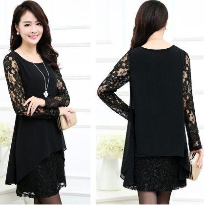 Elegant Lace Black Top - STUPA FASHION
