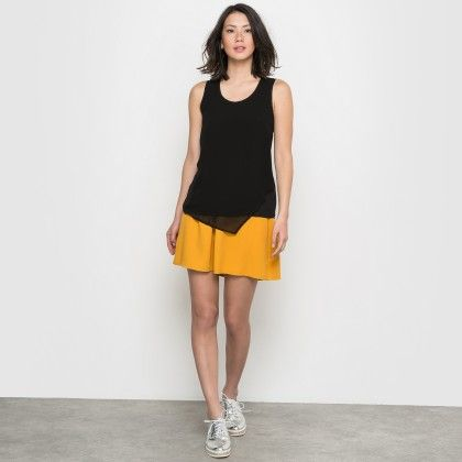 Black Basic Flowing Tank Top - La Redoute