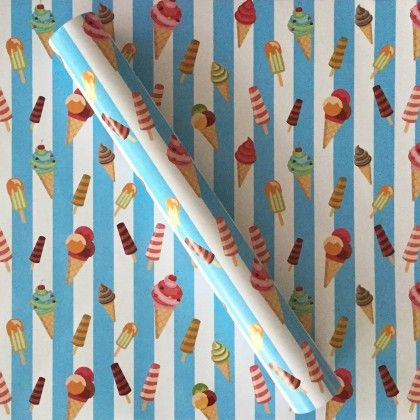 Ice Cream Wrapping Paper - Dots & Doodles