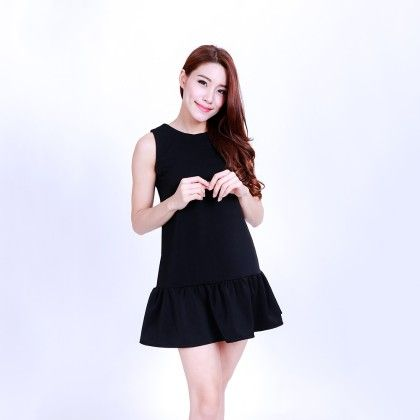 Black Ruffle Dress - Owlet Couture