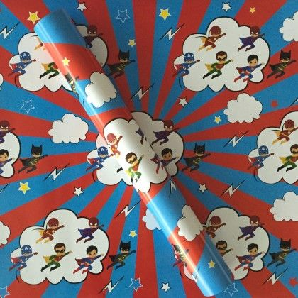 Super Hero Wrapping Paper - Dots & Doodles