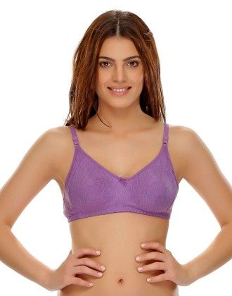 Clovia Soft Comfy Everyday Seamless T-shirt Bra - Purple