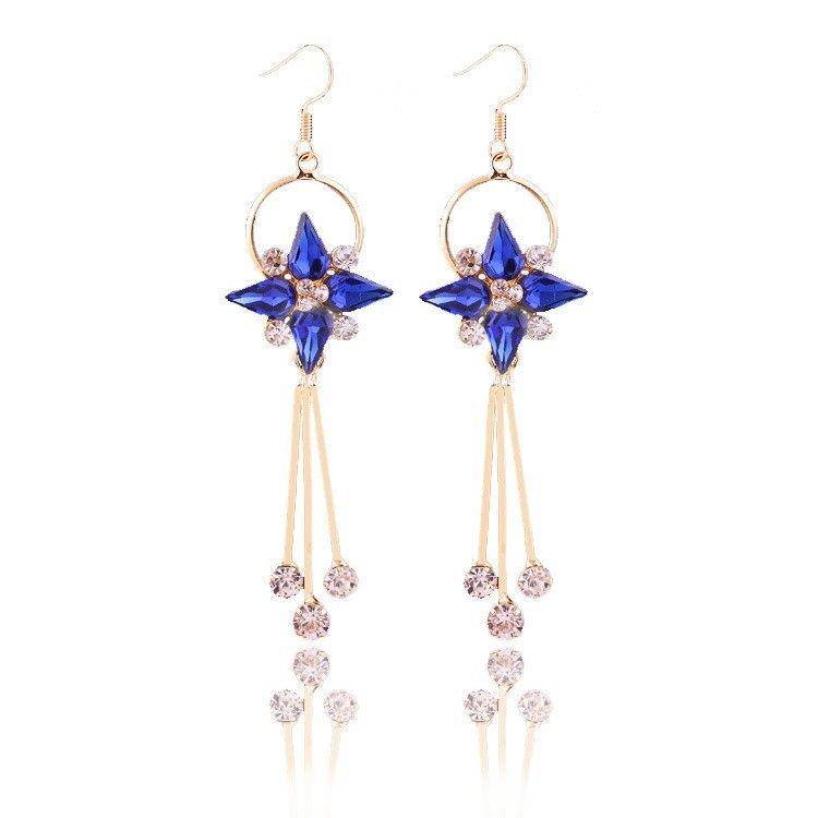 The Royal Princess-blue Drop Earrings - The Purple Present