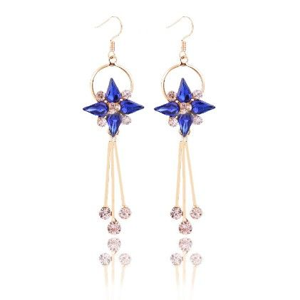 The Royal Princess-blue Drop Earrings - The Purple Present