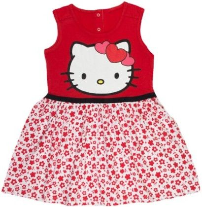 Hello Kitty  Red & Star With Knitted Dress - Hello_Kitty