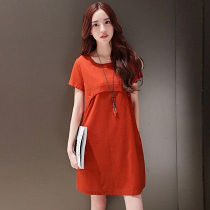 Short Dress Female - Orange - STUPA FASHION