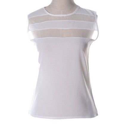 White Netted Top - Dell's World