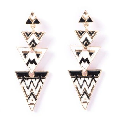 The Egyptian Black Drop Earrings - The Purple Present