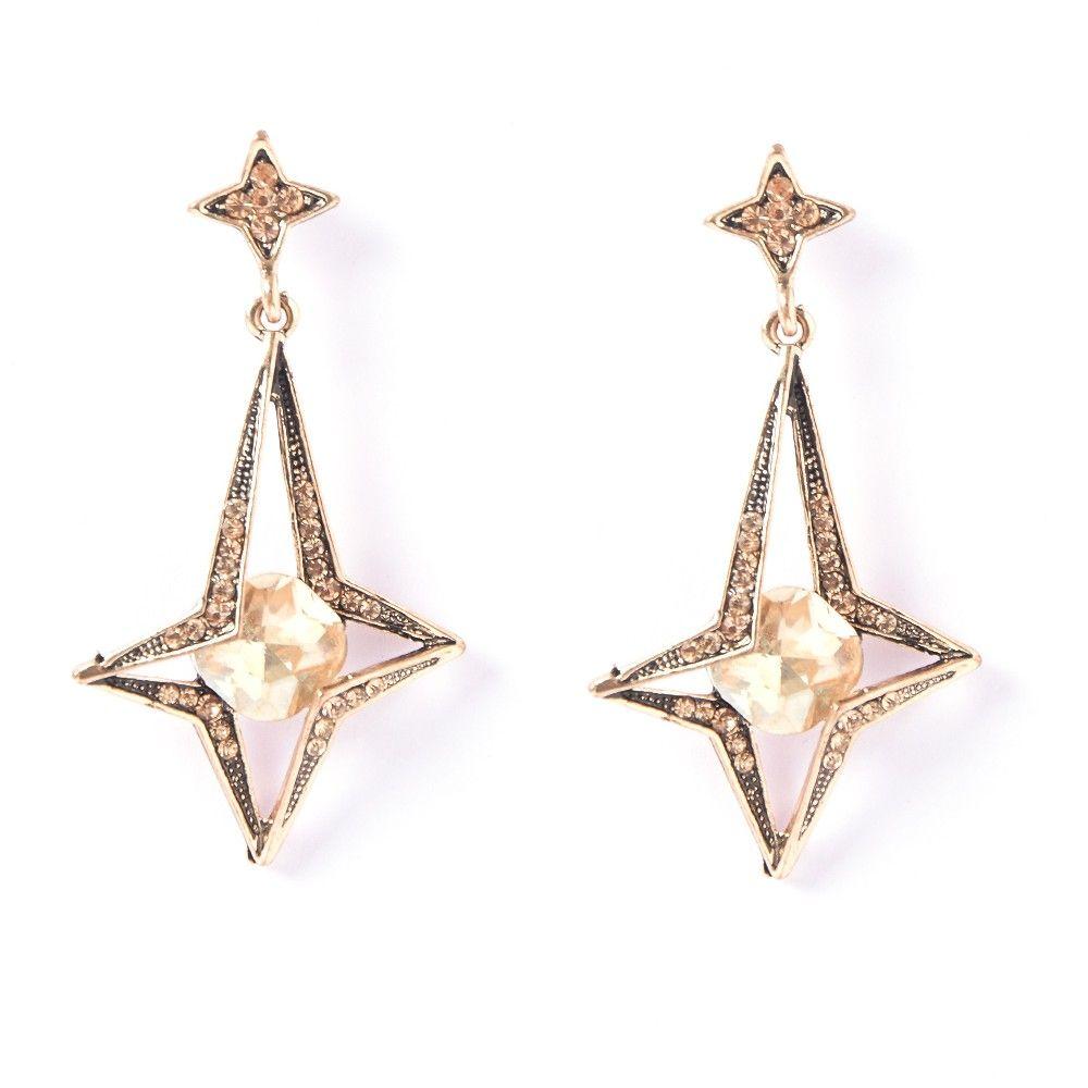 Star Heaven Drop Earrings - The Purple Present