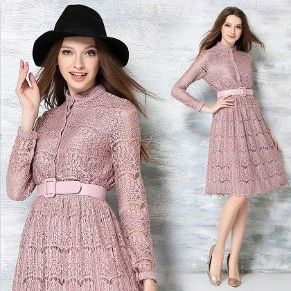 Bodycon Evening Party Night Dress - Pink - STUPA FASHION