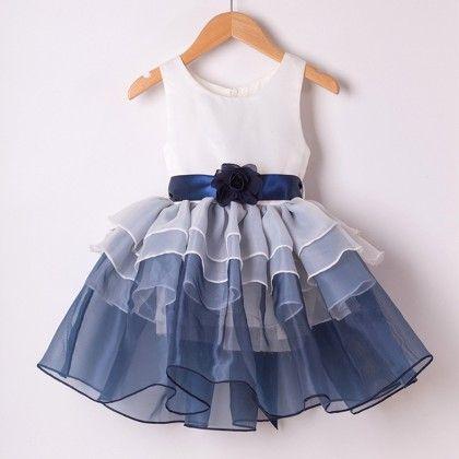 Trendy Frill Blue Dress - Mauve Collection