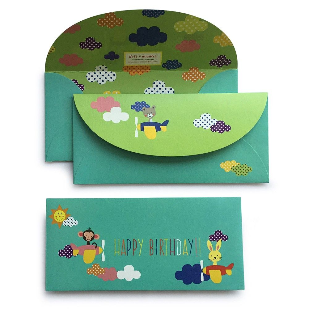 Happy Birthday Animals On A Plane - Dots & Doodles