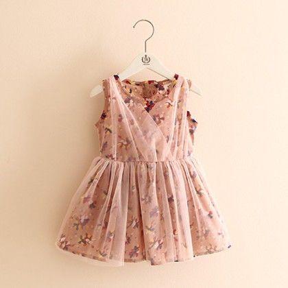 Pretty Lace Print Dress - Mauve Collection