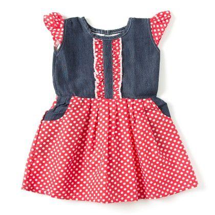 Red Polka Dot Printed Dress - TINY TODDLER