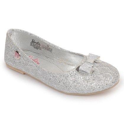 Silver Barbie Barbie Ballerina Shoes Bow Design - Disney - Bioworld