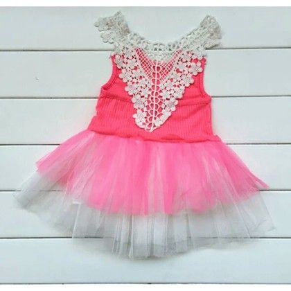 Red And Pink Rose Lace Princess Tutu Dress - LittleMaira