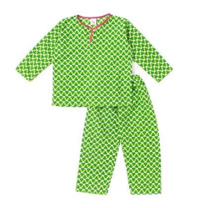 Night Green Full Sleeves Night Suit - Pocket Fashion