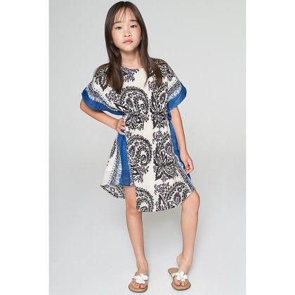 Black & White Kimono Dress - Toddler & Girls - Yo Baby