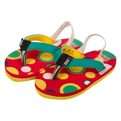 Bubbles Printed Slippers - Red - Mee Mee