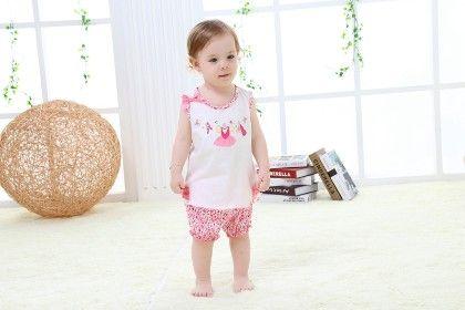 Cute Pink Top And Floral Shorts Set - Mimiwinga