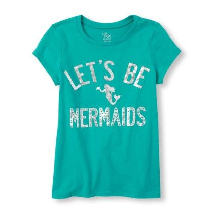 Girls Short Sleeve Lets Be Mermaids Graphic Tee - The Children's Place
