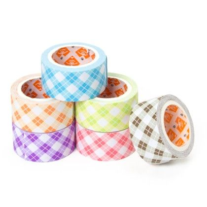 Set Of 6 Paper Tapes With Checks Design (20mm) - It's All About Me
