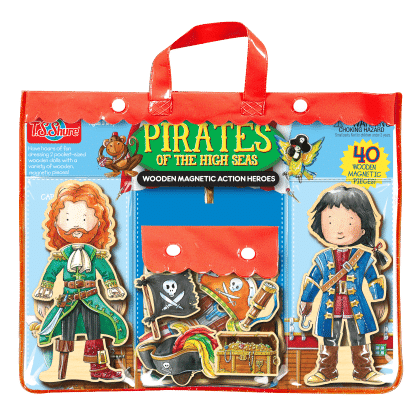Pirates Of The High Seas Wooden Magnetic Action Heroes - TS Shure
