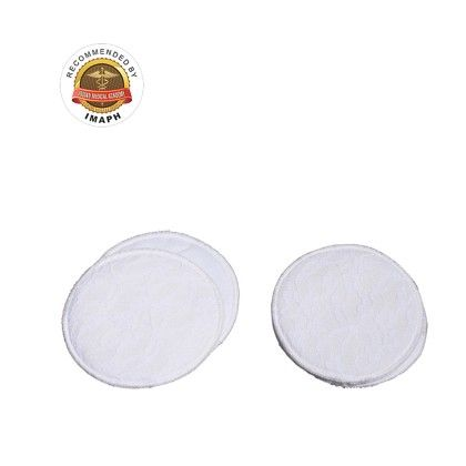 Washable Maternity Nursing Breast Pads, 2 Pieces White - Mee Mee