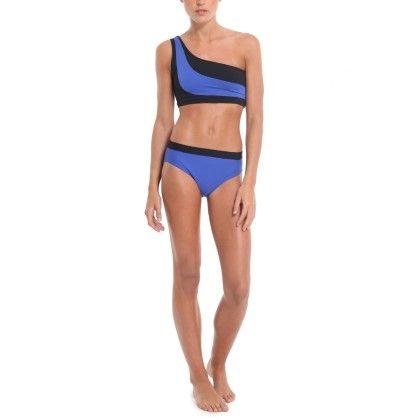 Colour Block One Shoulder Bikini - The Label Life