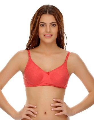 Clovia Soft Comfy Everyday Seamless T-shirt Bra - Pink