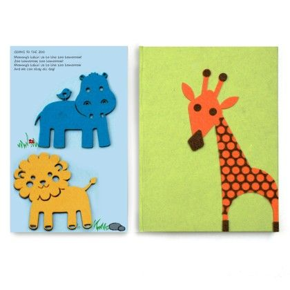 Combo Giraffe Diary With Animal Fridge Magnets - Two For Joy