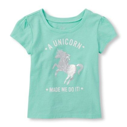 Girls Short Sleeve A Unicorn Made Me Do It! Graphic Tee - The Children's Place