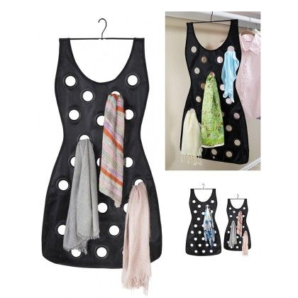 The Black Dress-hanging Scarf Organizer - Total Gift Solutions