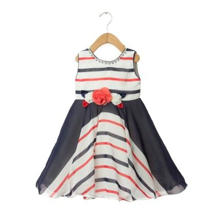 Black And White Stripe Dress - EIORA