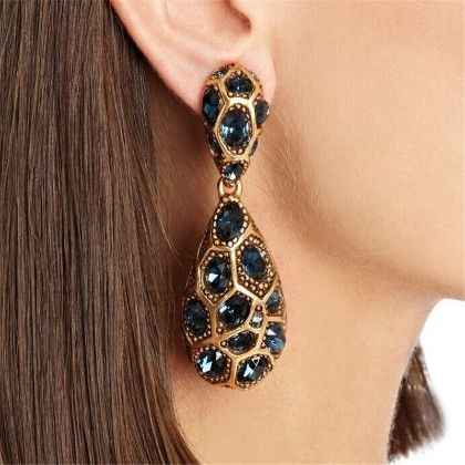 The Leopard Drop Earrings - The Purple Present