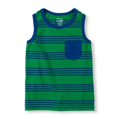 Boys Sleeveless Contrast Pocket Striped Tank Top - The Children's Place