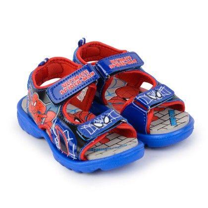 Red And Blue Spiderman Sandals - Disney - Bioworld