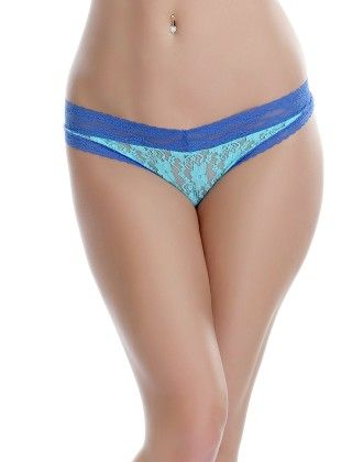 Clovia Lacy Thong In Blue