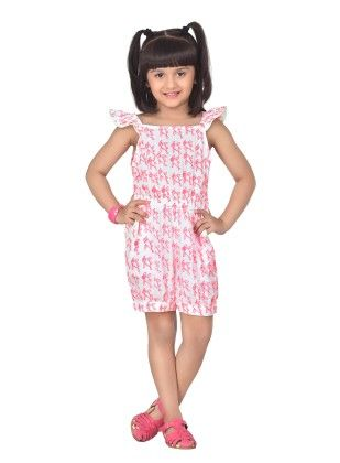 Twinkle Birdy Pink Frilly Sleeve Playsuit - Masaba For Magic Fairy