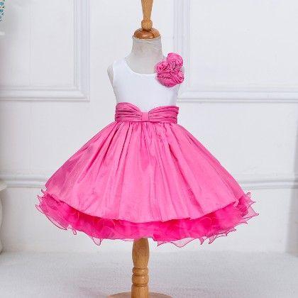Fuchsia Floral Princess Party Dress - MeiQ