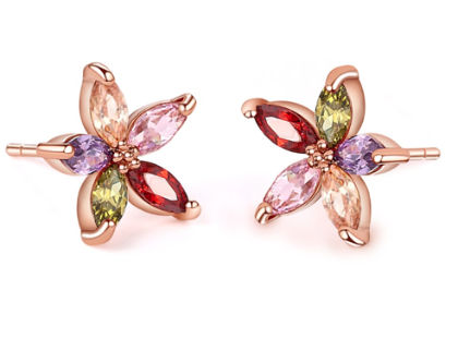 Mini Flower Stud Earring - The Purple Present